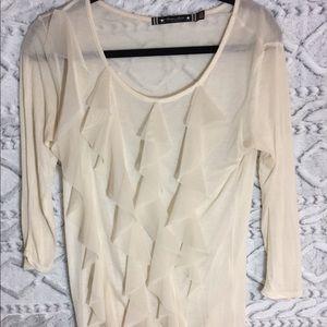 Twelve by Twelve Los Angeles cream ruffle shirt
